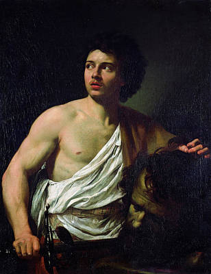 Goliath Painting - David With The Head Of Goliath by Simon Vouet