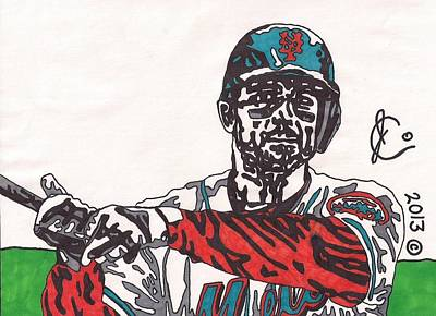 David Wright 2 Print by Jeremiah Colley