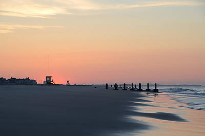 Seascape Photograph - Dawn Along The Beach - Cape May by Bill Cannon