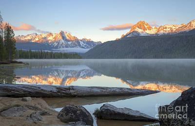 Dawn At Redfish Print by Idaho Scenic Images Linda Lantzy