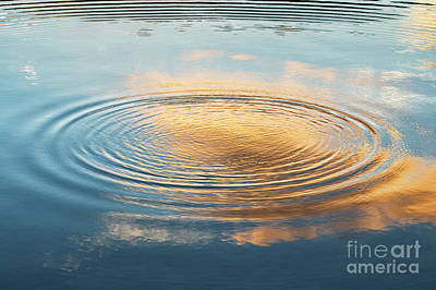 Fluid Photograph - Dawn Light Ripple by Tim Gainey