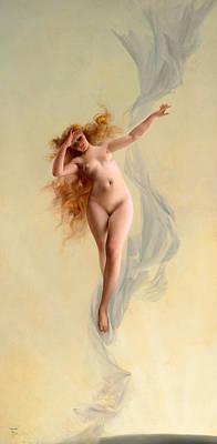 Luis Ricardo Falero Painting - Dawn by Luis Ricardo Falero