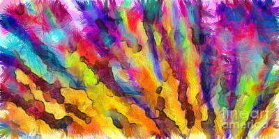Colored Pencil Drawing - Dawn Of A New Day Abstract by Edward Fielding