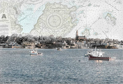 Dawn On Marblehead Harbor Print by Jeff Folger