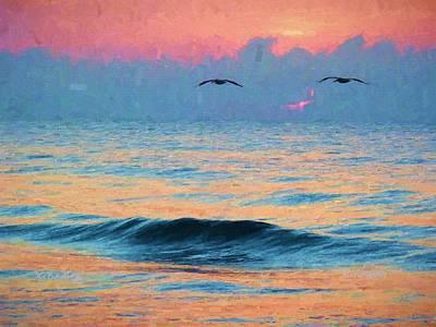 Dawn Patrol Print by JC Findley