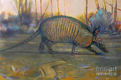 Armadillo Painting - Dawn Run by Donald Maier