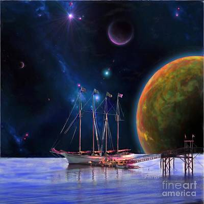 Outer Space Painting - Dawn Treader Is Now Boarding by Earl Jackson
