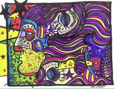 Follow Your Bliss Mixed Media - Day And Night by Robert Wolverton Jr