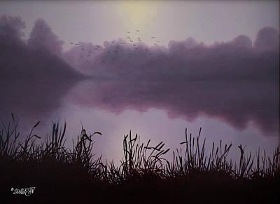 Sunset Drawing - Day Break by Tim Dangaran