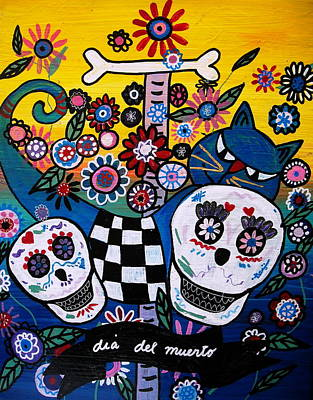 Tree Of Life Painting - Day Of The Dead by Pristine Cartera Turkus