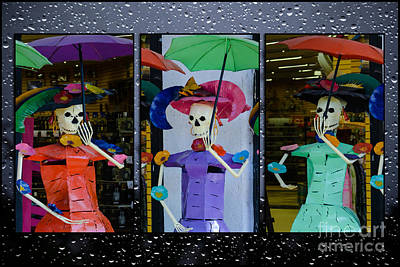 Day Of The Dead Shopping Print by Gary Keesler