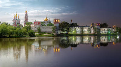 Moscow Photograph - Day To Night At Novodevichy Convent by Alexey Kljatov