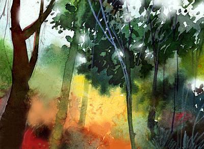 Daybreak Print by Anil Nene