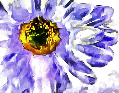 Blue Flowers Photograph - Daydream Daisy by Krissy Katsimbras
