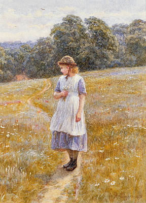 Meadow Painting - Daydreamer by Helen Allingham