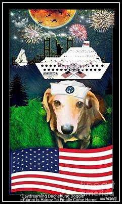 Dachshund Puppy Digital Art - Daydreaming Dachshund Doggie Gianni Comes Home by PrettTea Art Gallery  By Teaya Simms