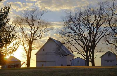 Artist Christine Belt Photograph - Days End At The Farm by Christine Belt
