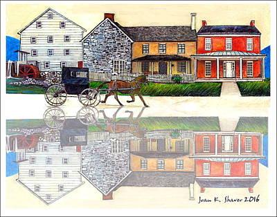 Dayton In Virginia's Shenandoah Valley Original by Joan Shaver
