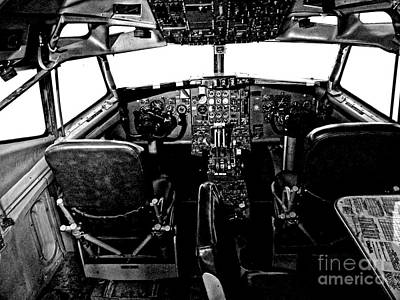 All Around Us Photograph - Dc 3 Cockpit  by JW Hanley