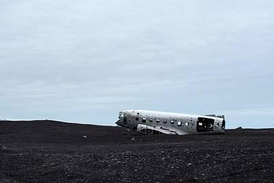 Dc-3 Plane Wreck Iceland Print by Brad Scott