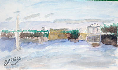Jefferson Memorial Painting - Dc Skyline  by Elizabeth Kilbride