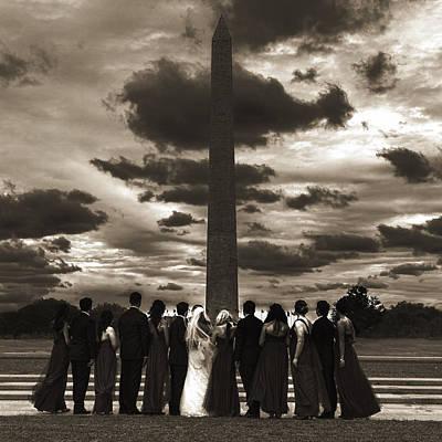 Washington Digital Art - D.c. Wedding Party by Greg Collins