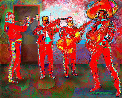 Musician Digital Art - De Colores by Dean Gleisberg