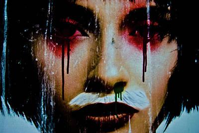 De Face I Print by Grebo Gray
