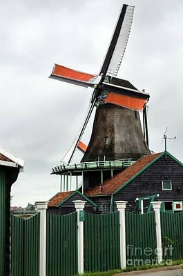 De Kat Windmill In Zaanse Schans Print by RicardMN Photography