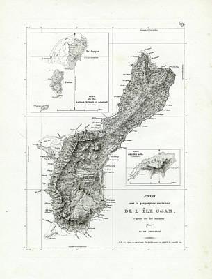 Lithograph Drawing - De L Ile Gwam Guam by Freycinet  DuPerry