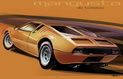 Automotive.digital Digital Art - De Tomaso Mangusta by Uli Gonzalez