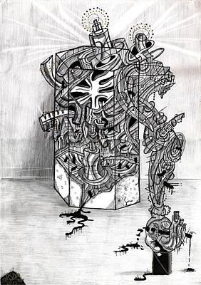 Praha Drawing - Dead Academism by Denis Bronnikov