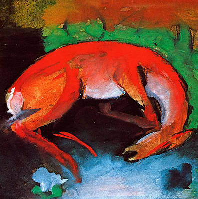 Expressionist Painting - Dead Deer by Franz Marc