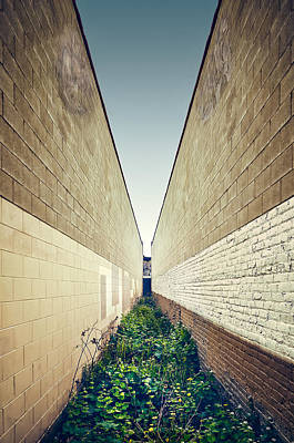 Round Building Photograph - Dead End Alley by Scott Norris