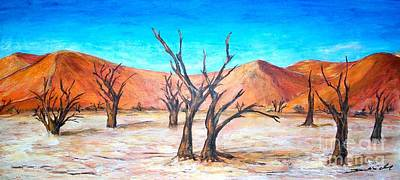 Painting - Deadvlei - Namibia  by Mary Sedici