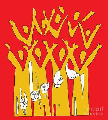 Language Painting - Deaf Pride by Eloise Schneider