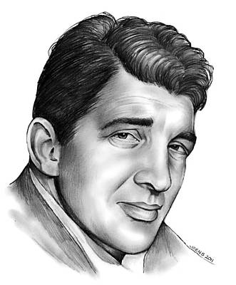 Comedy Drawing - Dean Martin by Greg Joens
