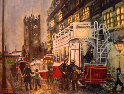 Catherdral Painting - Deansgate With Tram by Peter Gartner