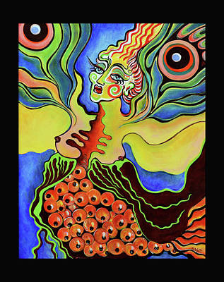 Salmon Painting - Death And Ascension Of Butterfly Woman by Melissa Wyatt