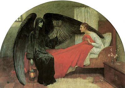 Death And The Maiden Print by Marianne Stokes