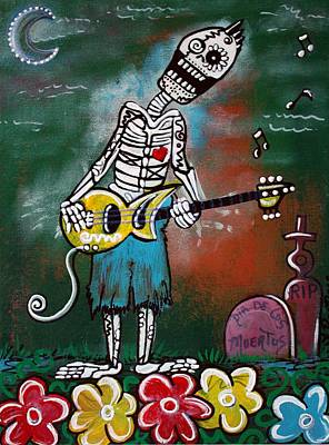 Graveyard Mixed Media - Death Jam by Laura Barbosa