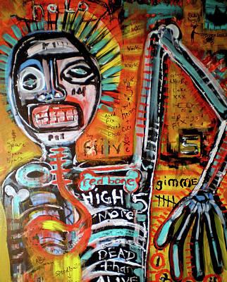 Death Of Basquiat Print by Robert Wolverton Jr