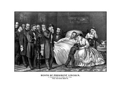 Death Of President Lincoln Print by War Is Hell Store