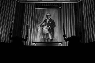 Haunted Mansion Painting - Death To Proprietorship by Alexandra Horta