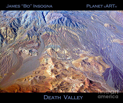 Aerial Photograph - Death Valley Planet Earth by James BO  Insogna