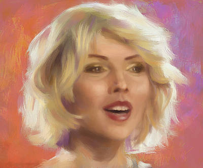 Blondie Digital Art - Debbie Harry by Ixie