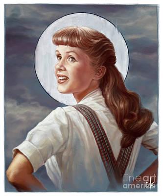 Digitalart Digital Art - Debbie Reynolds by Andre Koekemoer