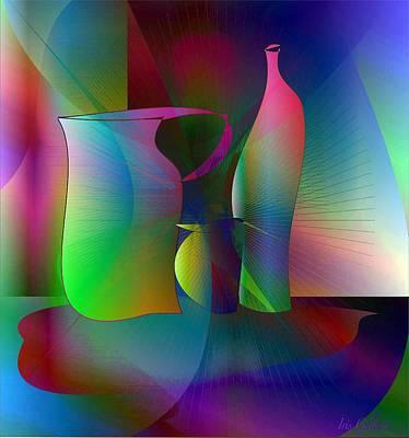 Decanters Print by Iris Gelbart