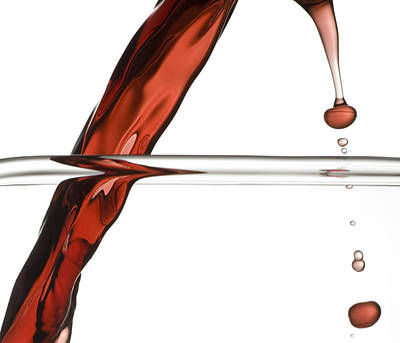 Food Photograph - Decanting Wine by Frank Tschakert