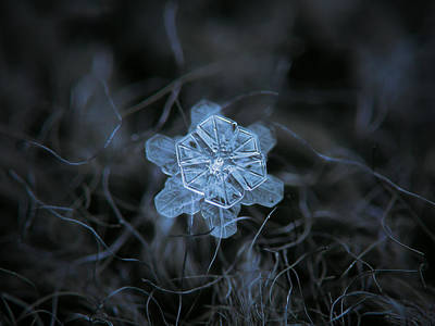 Crystals Photograph - December 18 2015 - Snowflake 2 by Alexey Kljatov